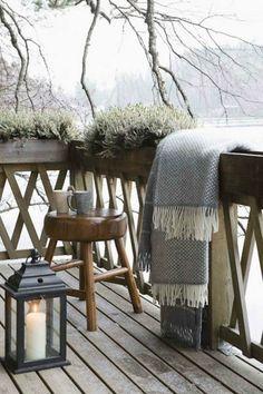 joli garde corps castorama en bois pour la verande devant la maison