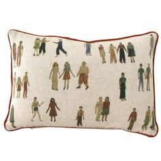 Paper Dolls Pillow by Todd Oldham - fishs eddy