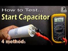 How to Test Motor Start and Motor Run AC Capacitor of ac fan and compressor Electrical Circuit Diagram, Home Electrical Wiring, Electrical Projects, Electrical Installation, Hvac Air Conditioning, Refrigeration And Air Conditioning, Diy Electronics, Electronics Projects, Ac Capacitor
