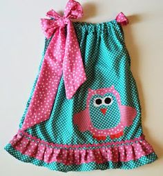 Custom Boutique OWL Pillowcase dress Sizes - Oh my adorable. Baby Outfits, Kids Outfits, Owl Dress, Baby Dress, Sewing For Kids, Baby Sewing, Fashion Kids, Little Girl Dresses, Girls Dresses