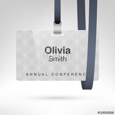 Vector Conference Badge With Name Tag Placeholder Blank Badge - Conference name badges template