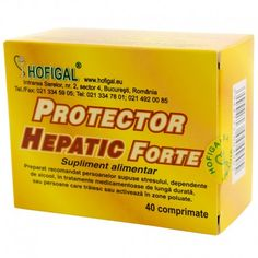 Protector hepatic forte 40 compr. Personal Care, Alcohol, Biology, Self Care, Personal Hygiene