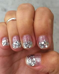 Cute glittery nails