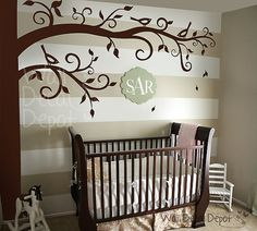 Wall Decal nursery for frame hanging  Corner by WallDecalDepot