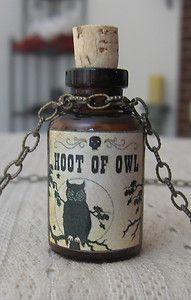 Inspiration bottle - hoot of owl