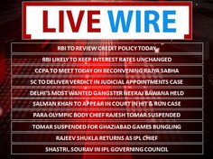 #LiveWire: What's making headlines at this hour