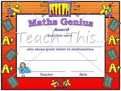 Maths Award