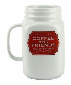 Look what I found on #zulily! 'Coffee and Friends' Mason Jar Mug #zulilyfinds