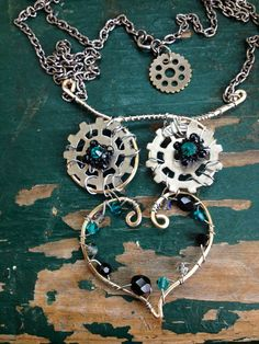 Owl Necklace, Steampunk Owl, Metal Owl Jewelry on Etsy, $25.00