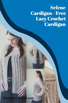 Crochet Cardigan Top pattern in sizes XS-5XL. Easy crochet cardigan pattern worked in one piece using lacy crochet stitches for women. Single Crochet Stitch, Double Crochet, Easy Crochet, Free Crochet, Crochet Cardigan Pattern, Crochet Patterns, Foundation Single Crochet, Cardigan Design, Free Summer