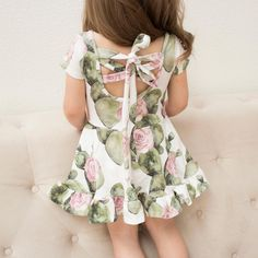 Our new Luna print . These come with a diaper cover underneath that has snaps for coverage and easy diaper changes. Little Girl Dresses, Girls Dresses, Toddler Outfits, Kids Outfits, Dress Anak, Baby Dress Patterns, Kids Frocks, Beautiful Baby Girl, Different Dresses