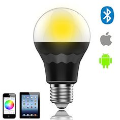 75W Bluetooth Bulb RGBWW Free App Timer Music Dimmable Group Smartphone Controlled >>> Click for Special Deals #SmartLED