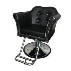 Melrose Styling Chair - The Melrose Styling chair is one of our most elegant, comfortable options. Features a beautiful crystal tufted backrest.
