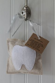 Hanging Tooth Fairy Pillow simply sweet by allmylovindesigns, $8.00