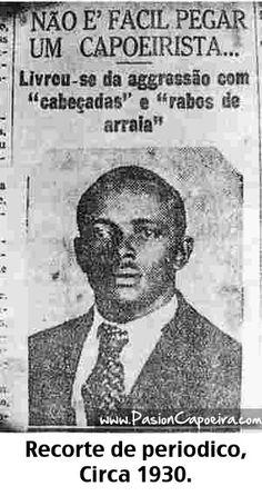 Imagen Exclusiva del joven Mestre Bimba padre de la Capoeira Regional via http://pasioncapoeira.com/