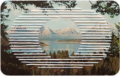 Shaun Kardinal: Hand Embroidered Postcard / Alteration no. Landscape Photography, Art Photography, Stitching On Paper, Instalation Art, Edelweiss, Contemporary Embroidery, 3d Wall Art, Paper Embroidery, Art Plastique