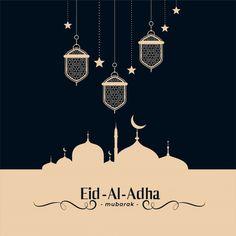 Traditional islamic eid al adha festival background Free Vector Eid Al Adha Greetings, Eid Mubarak Greeting Cards, Eid Cards, Eid Adha Mubarak, Eid Al Fitr, Happy Eid Al Adha, Happy Eid Mubarak, Ramadan Background, Festival Background