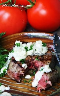"Gorgonzola Cream Sauce for your Steaks. Gives me just the right amount of ""bite"" from the blue cheese, yet is toned down with the creamy goodness and fresh herbs.  It's an easy sauce to make, and dresses up your steak into something special!  Step-by-step photos."