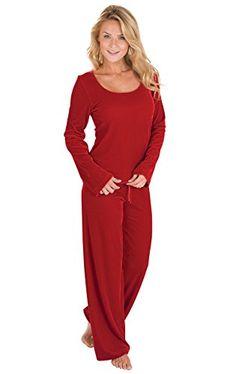 e4359d6542 Women s Velour Pajamas w Long-Sleeved Top and Pants Pajamas Women