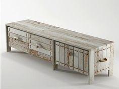 Meuble tv / buffet en bois de récupération ROPE ME | Meuble tv en bois - KARPENTER