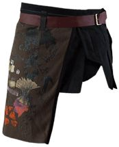 """""""loincloth,"""" skirtlike garment to wear over jeans/trousers or maybe other skirt?"""