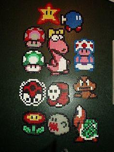 perler beads; Mario