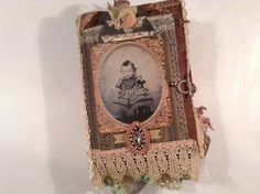 A Relic of Time  Mixed Media Fabric Journal by SueOlson on Etsy