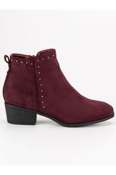 Bordové topánky Nio Nio Timberland, Vans, Ankle, Boots, Fashion, Crotch Boots, Moda, Wall Plug, Fashion Styles