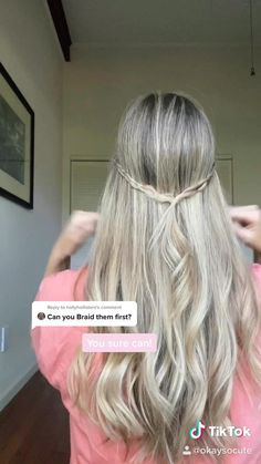 Easy Hairstyles For Long Hair, Pretty Hairstyles, Girl Hairstyles, Braided Hairstyles, Running Late Hairstyles, School Hairstyles, Hairdos, Natural Hairstyles, Updos