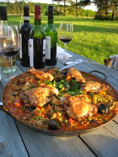 Paella can be prepared on a large grill, specially made burner or for the adventuresome, an open fire.