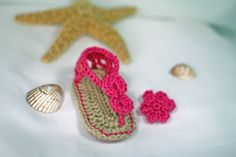 Crochet Baby Sandals  Baby by TheBabyCrow
