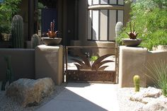 Courtyard gate at Tranquil Trail