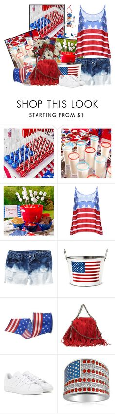 """""""Cake Pops Le 4 juillet"""" by frane-x ❤ liked on Polyvore featuring STELLA McCARTNEY and adidas"""