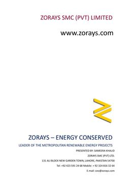 http://zorays.co/ZoraysCompanyProfile  To download our performance report in first two Quarters.