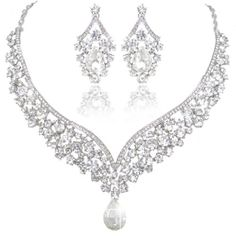 Ever Faith Crystal Art Deco V-Shape Bridal Jewellery Set - Clear-Silver-Tone N01911-9 Ever Faith http://www.amazon.co.uk/dp/B00IJ10OG2/ref=cm_sw_r_pi_dp_Todaxb16WC759