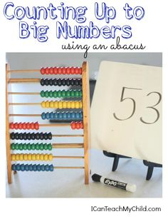 Counting Up to Big Number Using an Abacus