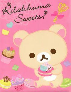 Korilakkuma and sweets. = Kawaii