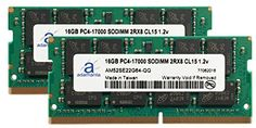 2x8GB Laptop Memory Upgrade for HP Zbook 15 G3 Mobile Workstation DDR4 2133Mhz PC4-17000 SODIMM 1Rx8 CL15 1.2v Notebook DRAM Adamanta 16GB