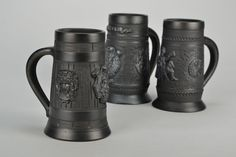 Black-Smoke-Fired Beer Mug | ClayNCeramicDishware on Etsy.com $45.83
