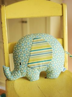 Patchwork Hot Water Bottle Cozy :: Step by step tutorial and pattern Baby Sewing Projects, Craft Projects, Sewing Toys, Sewing Crafts, Elephant Love, Elephant Pillow, Baby Presents, Mellow Yellow, Mustard Yellow