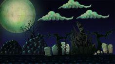 Halloween game backgrounds by Kübra Aslan, via Behance