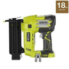 Ryobi One Plus 18-Volt 2 in. 18-Gauge Cordless Brad Nailer-P320 at The Home Depot. I am terrified of using the compressor & hose one--none needed using this!!!