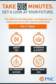 PNCPNC Retirement Calculator - Finance tips, saving money, budgeting planner Investing For Retirement, Retirement Planning, Savings Planner, Budget Planner, Bill Organization, Financial Success, Finance Tips, Things To Know, Calculator