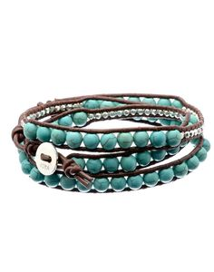 Genuine leather precious wrap bracelet- screams summer, well its a decent enough start Rihanna, Jewelery, Bracelets, Leather, Gifts, Accessories, Board, Summer, Dress