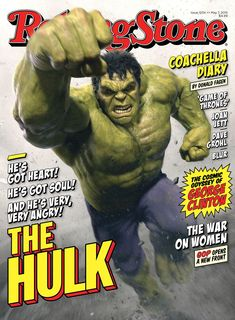 Smashing New Look At 'The HULK' On Rolling Stone Cover For AVENGERS: AGE OF ULTRON. via: http://www.comicbookmovie.com/