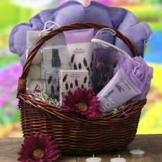 purple gift baskets | Spa & Pamper Gift Baskets: Pamper Me Purple Spa Gift Basket @ Design ...