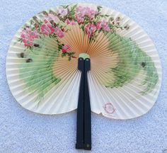 Vintage Hand Held Paper Fan Made in People's Republic of China with Metal Handle #HandHeld http://stores.ebay.com/bhtresures-internet-store