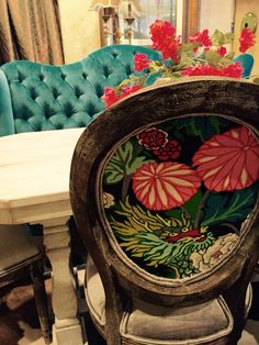 Custom dining chairs by Chateaux Interiors in Beckley, WV