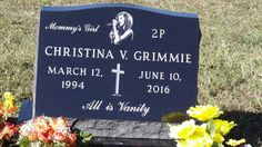 Her headstone is absolutely beautiful, even though it breaks my heart. I miss you Grimms.