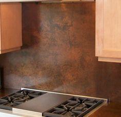 solid copper backsplash switch plates pot racks etc wwwthemetalpeddlercom copper backsplashbacksplash ideaskitchen - Copper Kitchen Backsplash Ideas